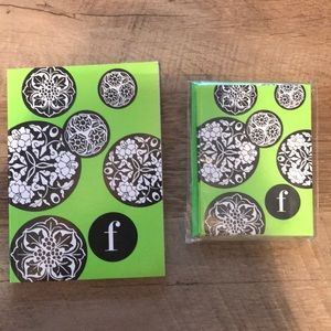 Brand New Lime Blank Notecards & Notepad